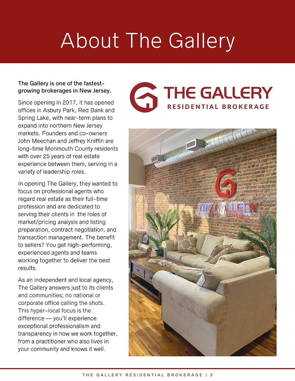 About The Gallery Residential Brokerage