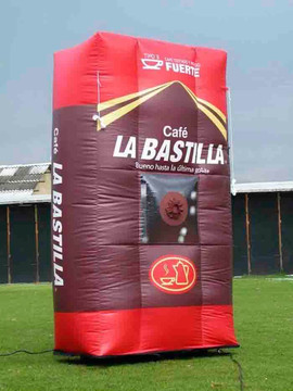 Cabina para sorteo Inflable Cafe La bast