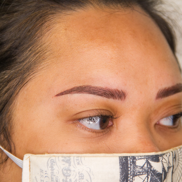 Microblading and shade after