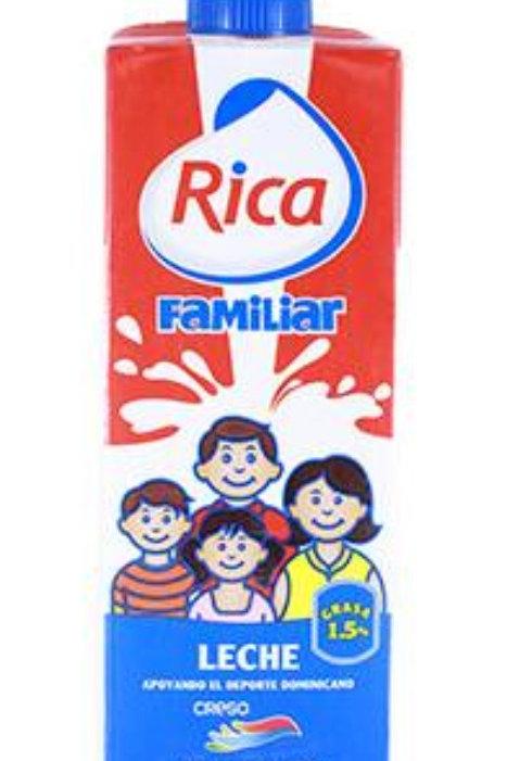 Leche Liquida Familiar Uht 1 lit Rica