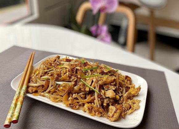 Pad thai au poulet et oeuf