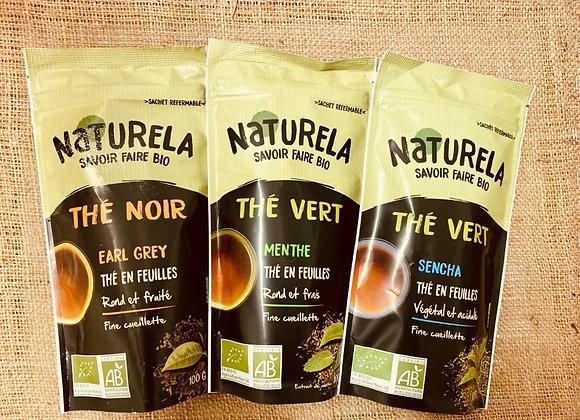 Thés en feuilles bio