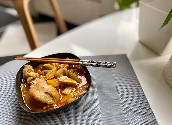 Poulet thai au curry rouge