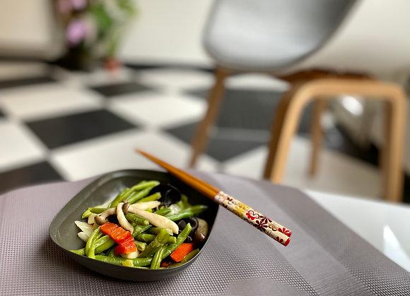 Légumes au curry vert