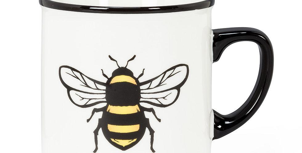Bee Rimmed Mug