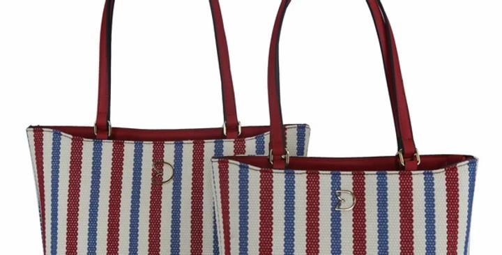 Nautical Jute Bag Red & Blue