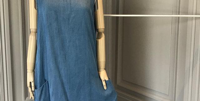 70's Denim Sleevless Dress