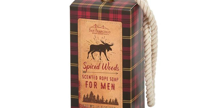 Men's Soap On A Rope -  Spiced Woods