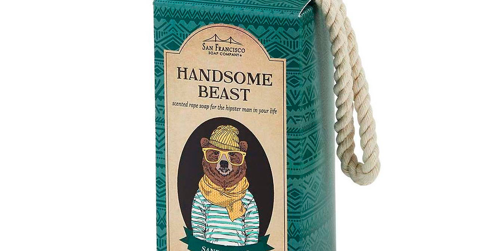 Men's Soap On A Rope - Handsome Beast Hipster