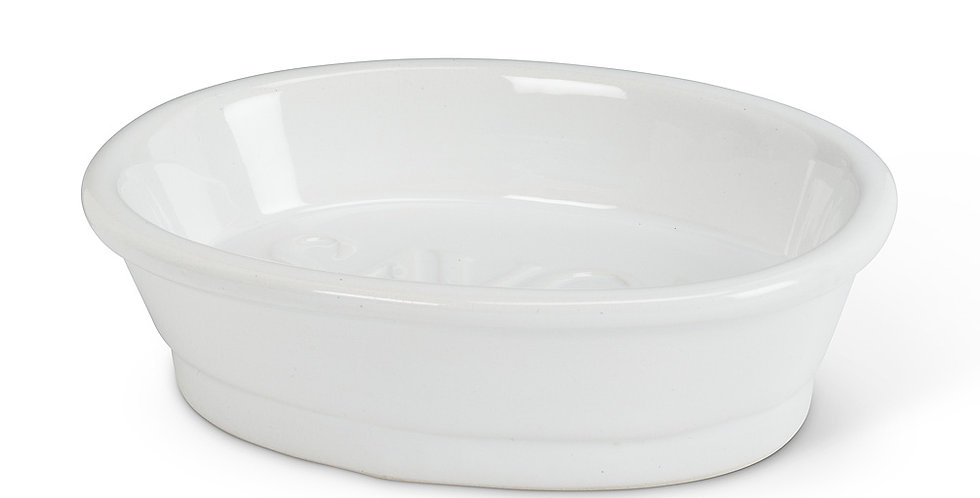 "Oval ""Savon"" Soap Dish"