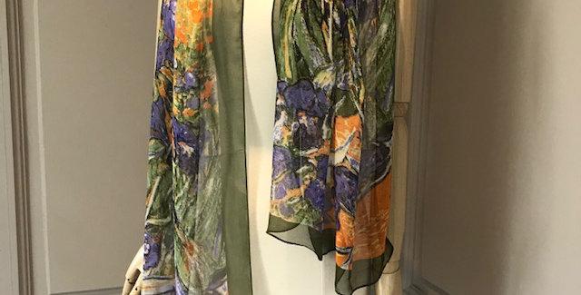 Monet Iris Garden Scarve