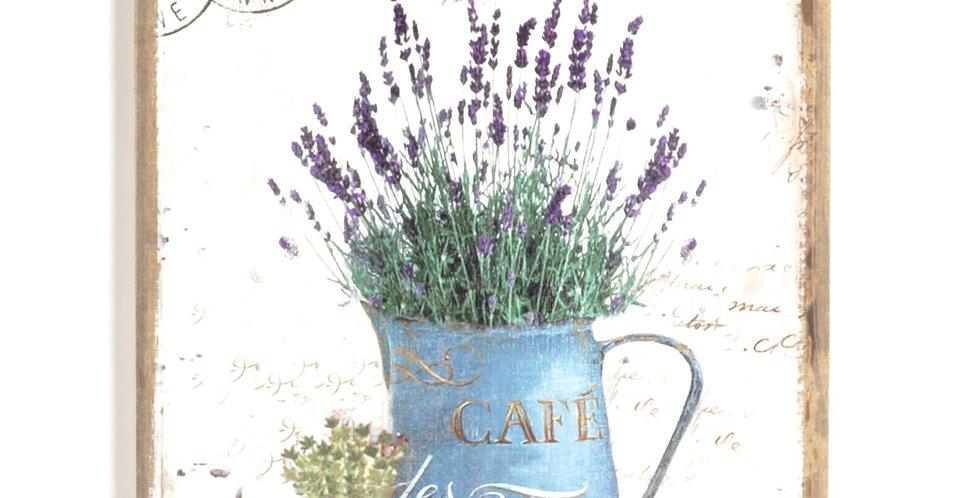 Cafe les Fleur Bouquet canvas