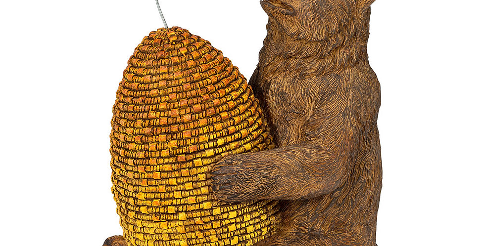 Bear with Beehive and Bee