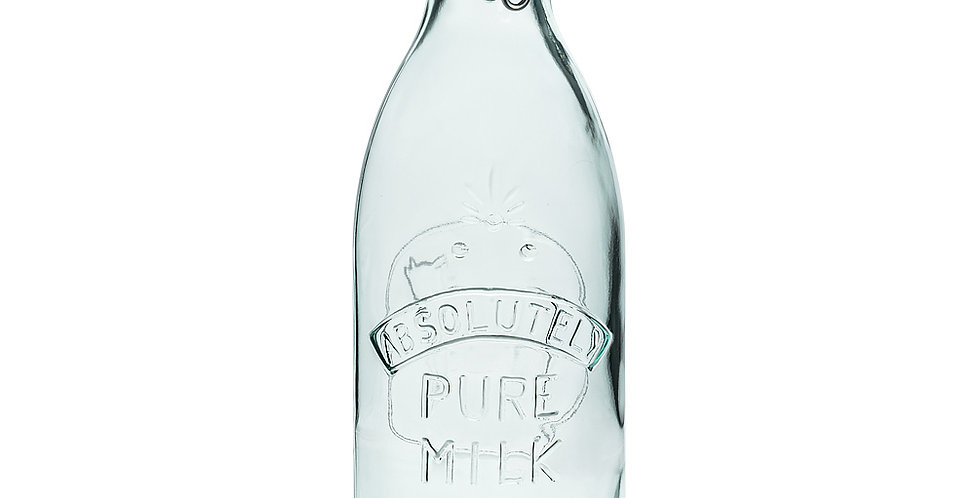 Embossed Milk Bottle with Seal