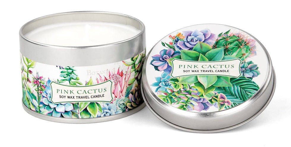 Pink Cactus Travel Candle