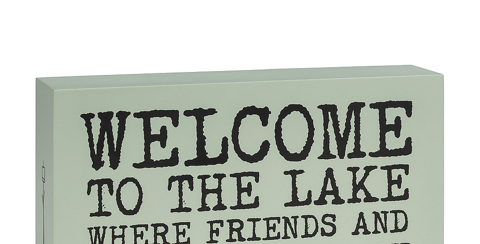 """""""Welcome to the Lake…"""" Block"""
