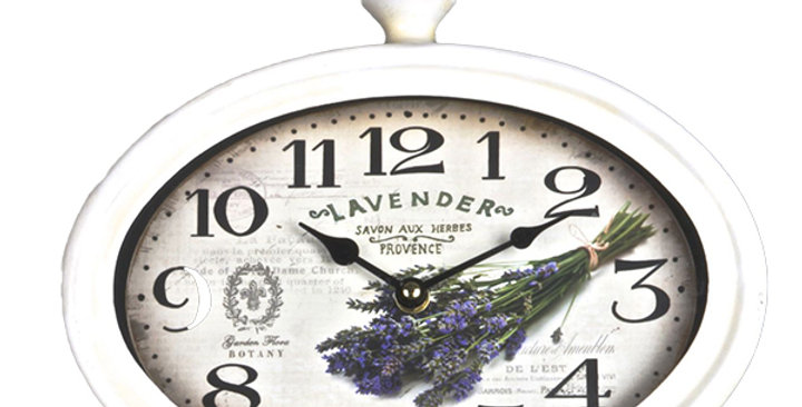 Oval wall Clock  Lavender