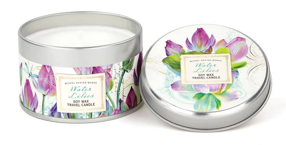 Water Lilies Travel Candle