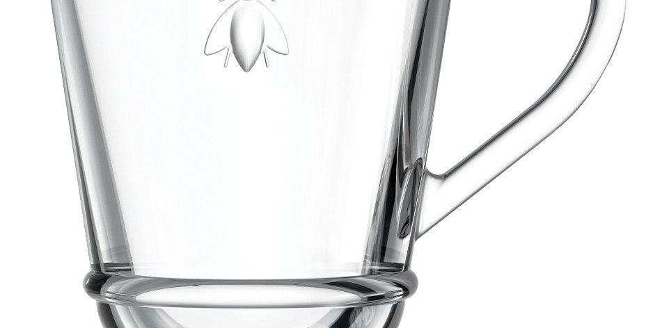 Larochere Glass  Bee Coffee Mug 9.5oz