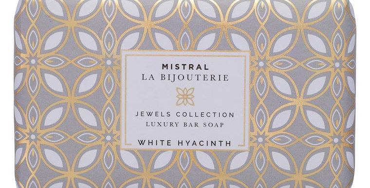 White Hyacinth Jewels Bar Soap