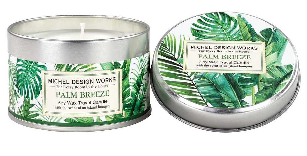 Palm Breeze Travel Candle
