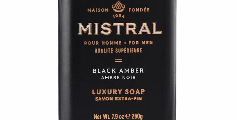 Black Amber men's bar soap