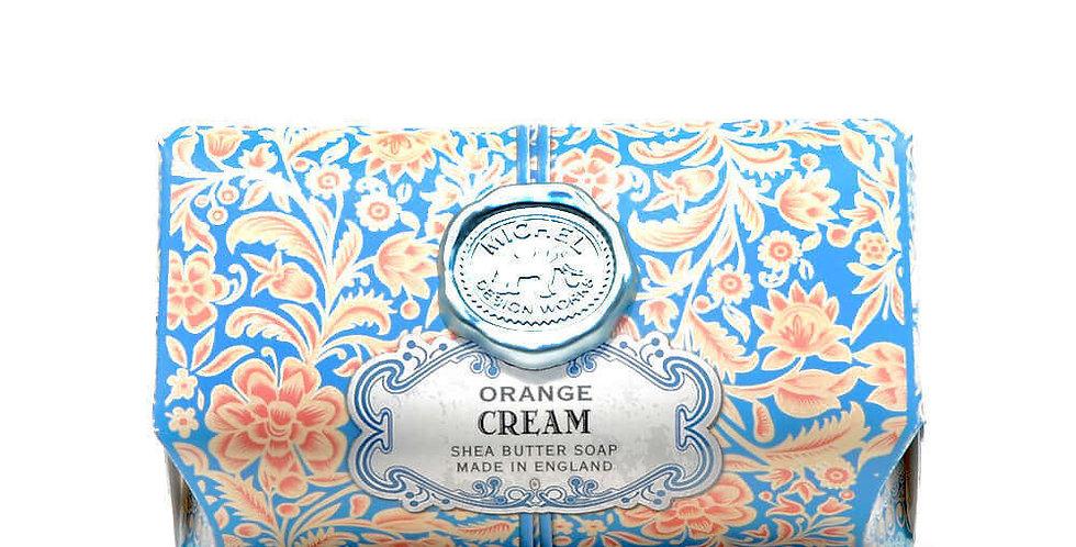 Orange Cream Large Bath Soap Bar