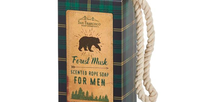 Men's Soap On A Rope -  Forest Musk