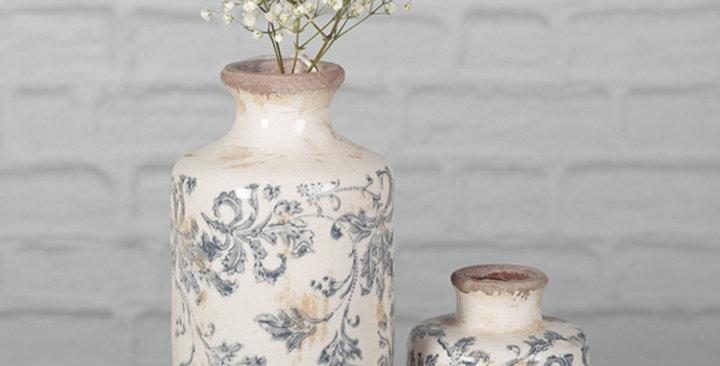 Blue vase /set of2