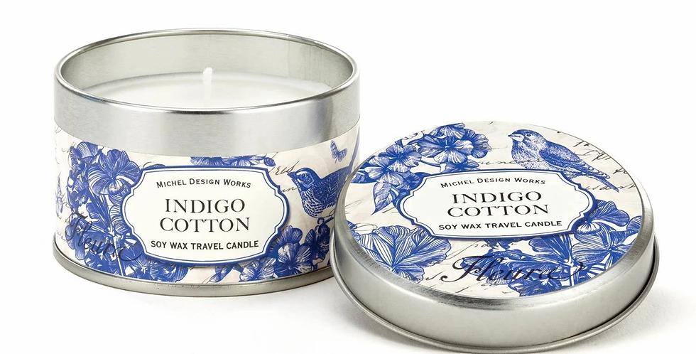 Indigo Cotton Travel Candle