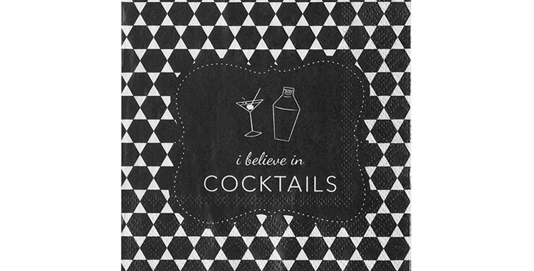 I Believe in Cocktails Cocktail Napkin