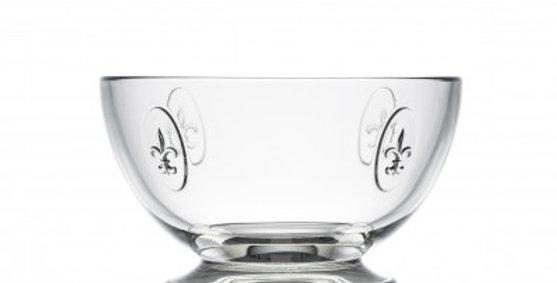 Larochere Glass Fleur de Lys  Mini Bowl 9.5oz