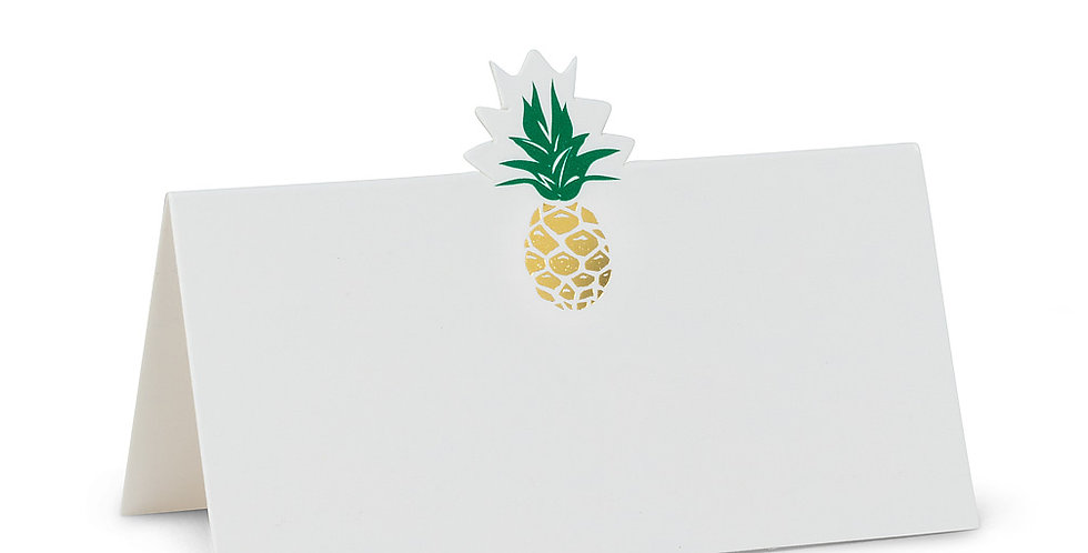 Pineapple Folded Placecards. 12 Pieces