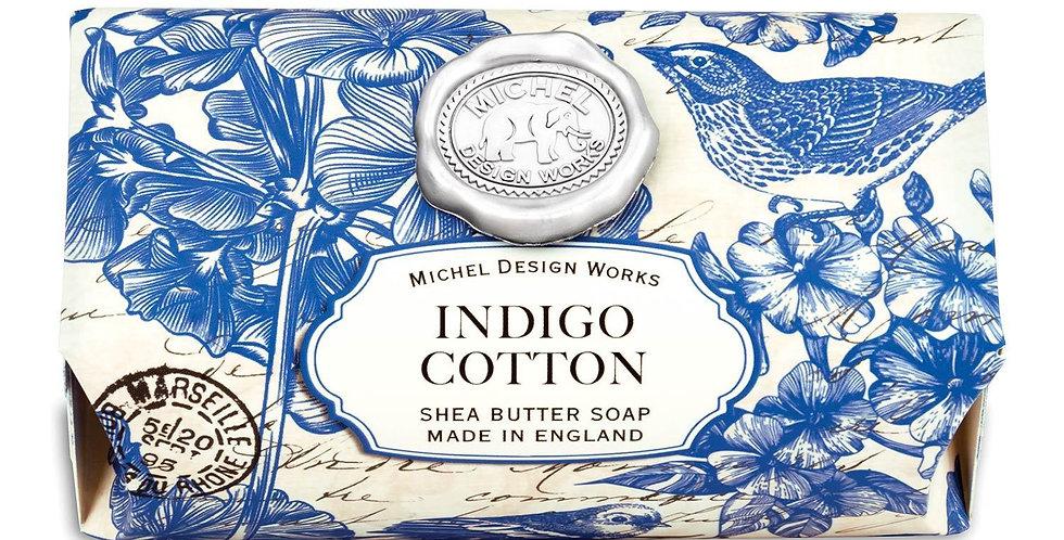Indigo Cotton Large Bath Soap Bar