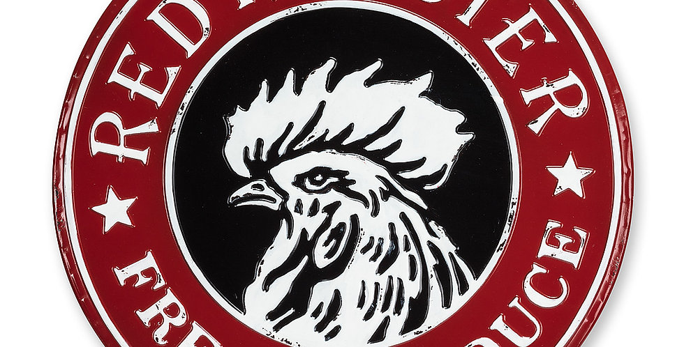 Large Round Rooster Sign