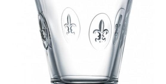 Larochere Glass  Fleur de Lys Tumbler 9.5oz