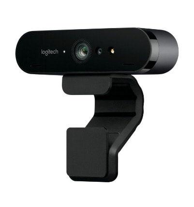 Cámara web marca Logitech, modelo Brio, 4K para streaming, color negro