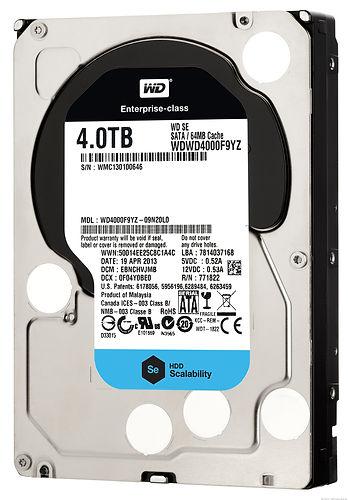 Disco duro para PC, marca Western Digital, 4 TB de capacidad, interfaz SATA, 64 MB de caché