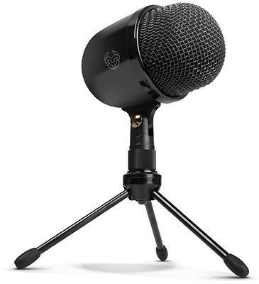 Micrófono marca NOX, modelo Krom Kimu, con 3 patas, color negro