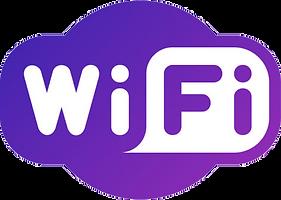 Logo Wifi en color púrpura y redondeado