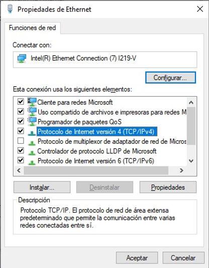 Protocolo de Internet versión 4 (TCP/IPv4)