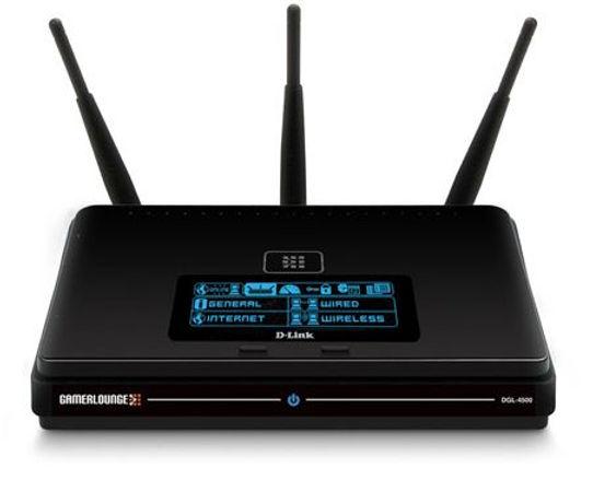 Router D-Link, modelo Xtreme N, en color negro con letras azules