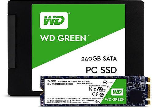 """Unidad SSD de 2.5"""" para PC, marca Western Digital, modelo Green, capacidad 240 GB, interfaz SATA-III"""