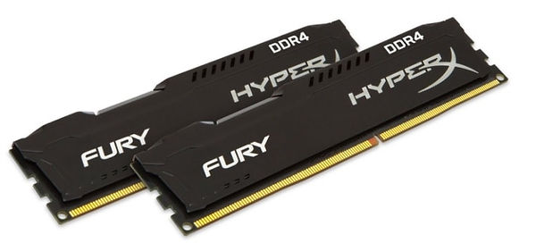Memoria RAM para PC, marca Kingston, modelo HyperX Fury DDR4, kit de 2 módulos de 32 GB