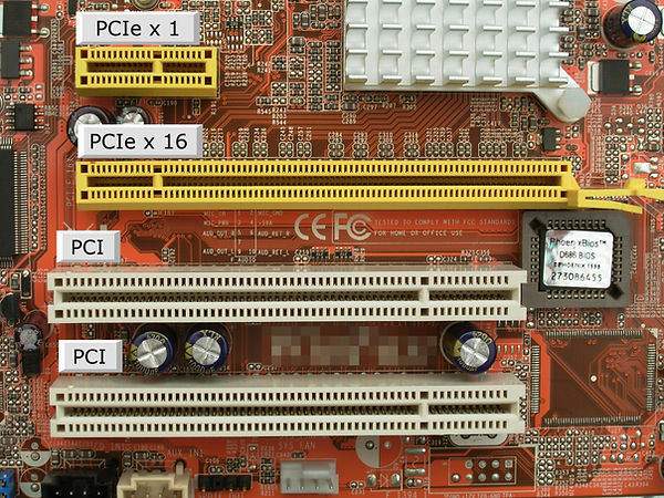 Longitud slots PCI expres x1 vs PCI expres x16