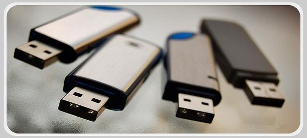 Muchos USB sobrios y metalizados