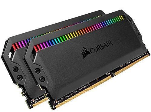 Memoria RAM para PC, marca Corsair, modelo Dominator, kit de 2 módulos RGB de 16 GB