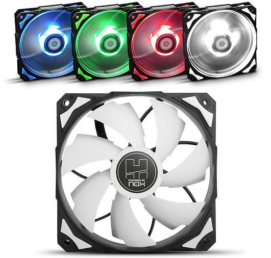 Ventiladores para ordenador NOX Hummer, colores azul, verde, rojo y blanco