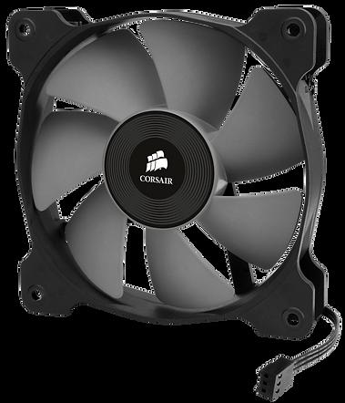 Ventilador para PC, marca Corsair, color blanco y negro