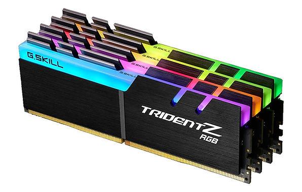 Memoria RAM para PC, marca G.Skill, modelo Trident, kit de 4 módulos RGB de 16 GB